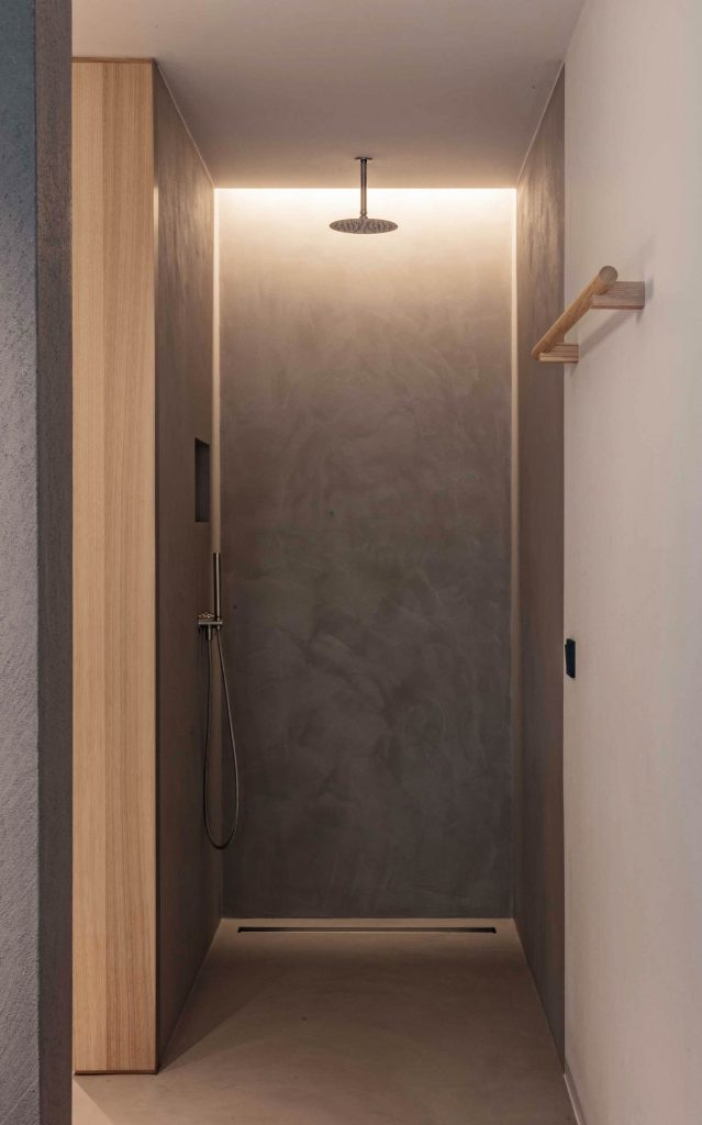 Regendusche in den Badezimmern des Hotel Schgaguler in Kastelruth