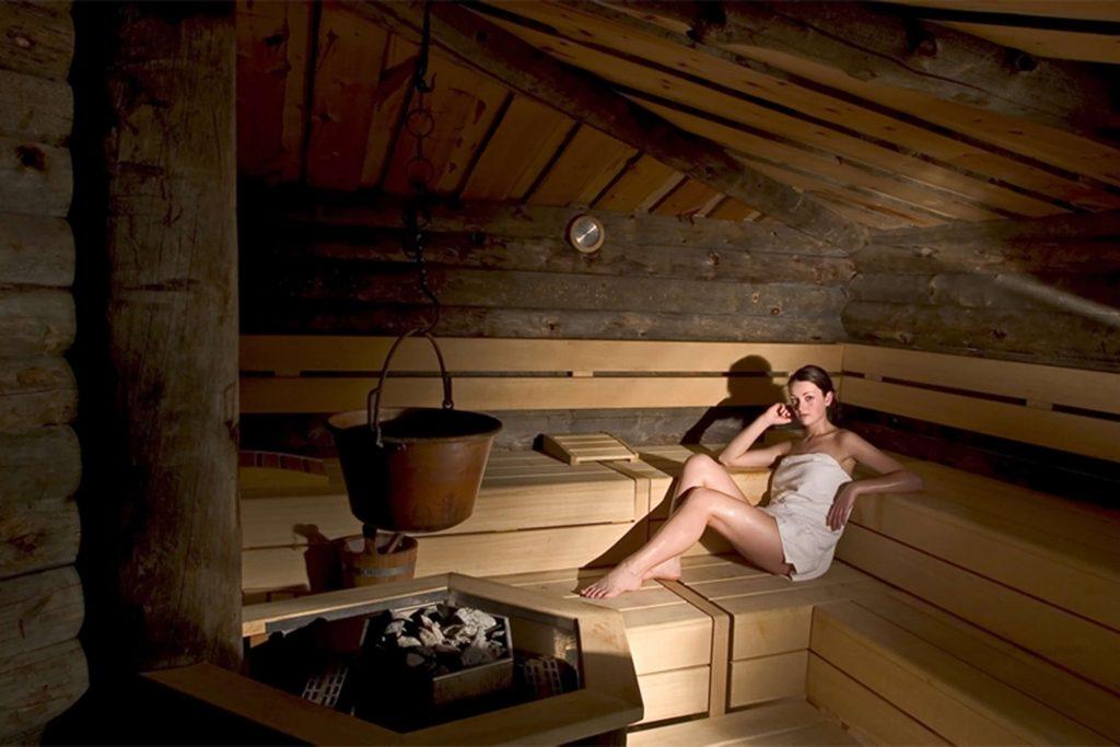 Sauna Kelo nell'area benessere dell'Hotel Schgaguler