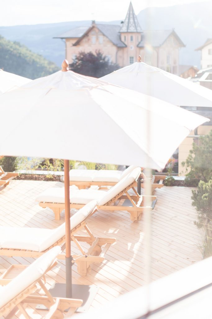 La terrazza dell'hotel Schgaguler