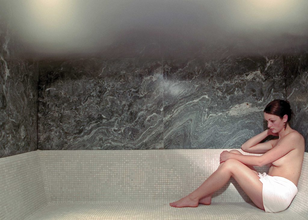 The steam sauna in the wellness hotel Schgaguler in South Tyrol