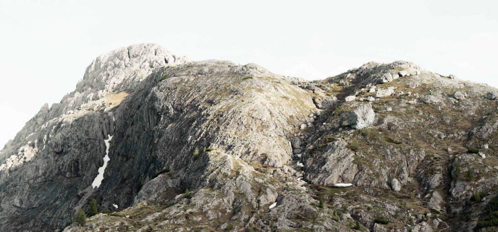 Der Falzarego Pass in den Dolomiten, Südtirol