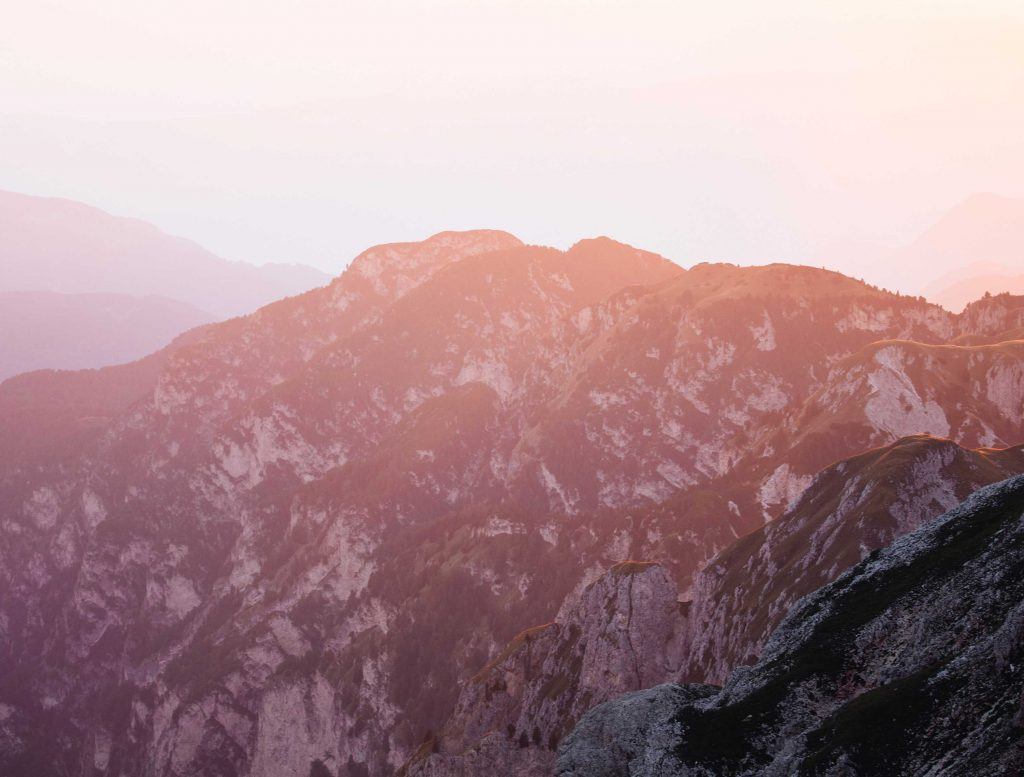 Tramonto nelle Dolomiti altoatesine