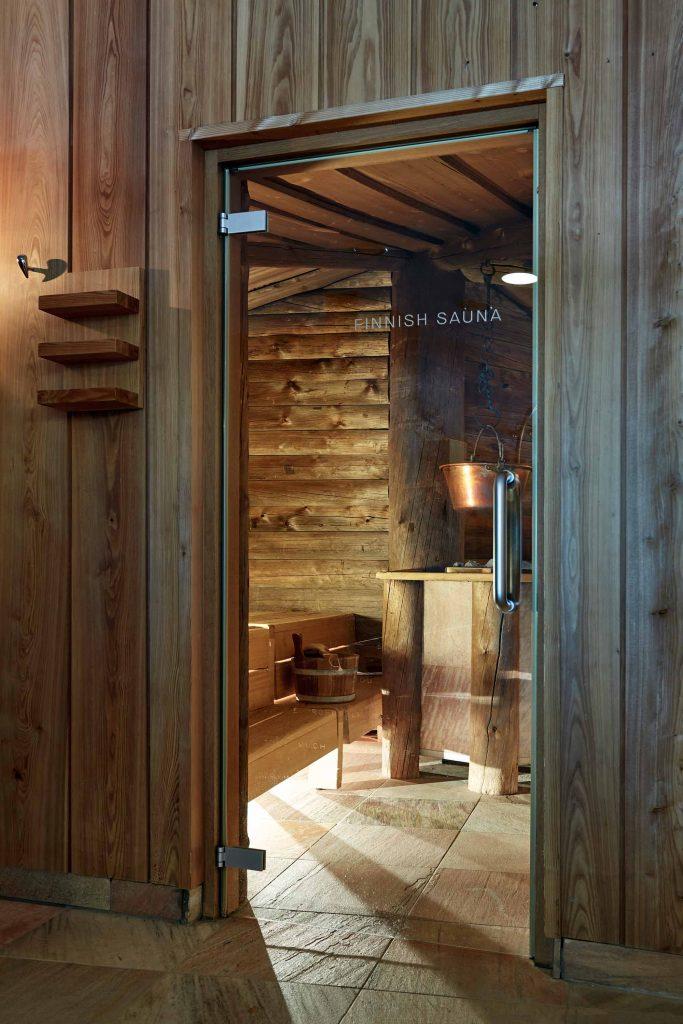 Wellnessbereich mit Sauna in den Dolomiten