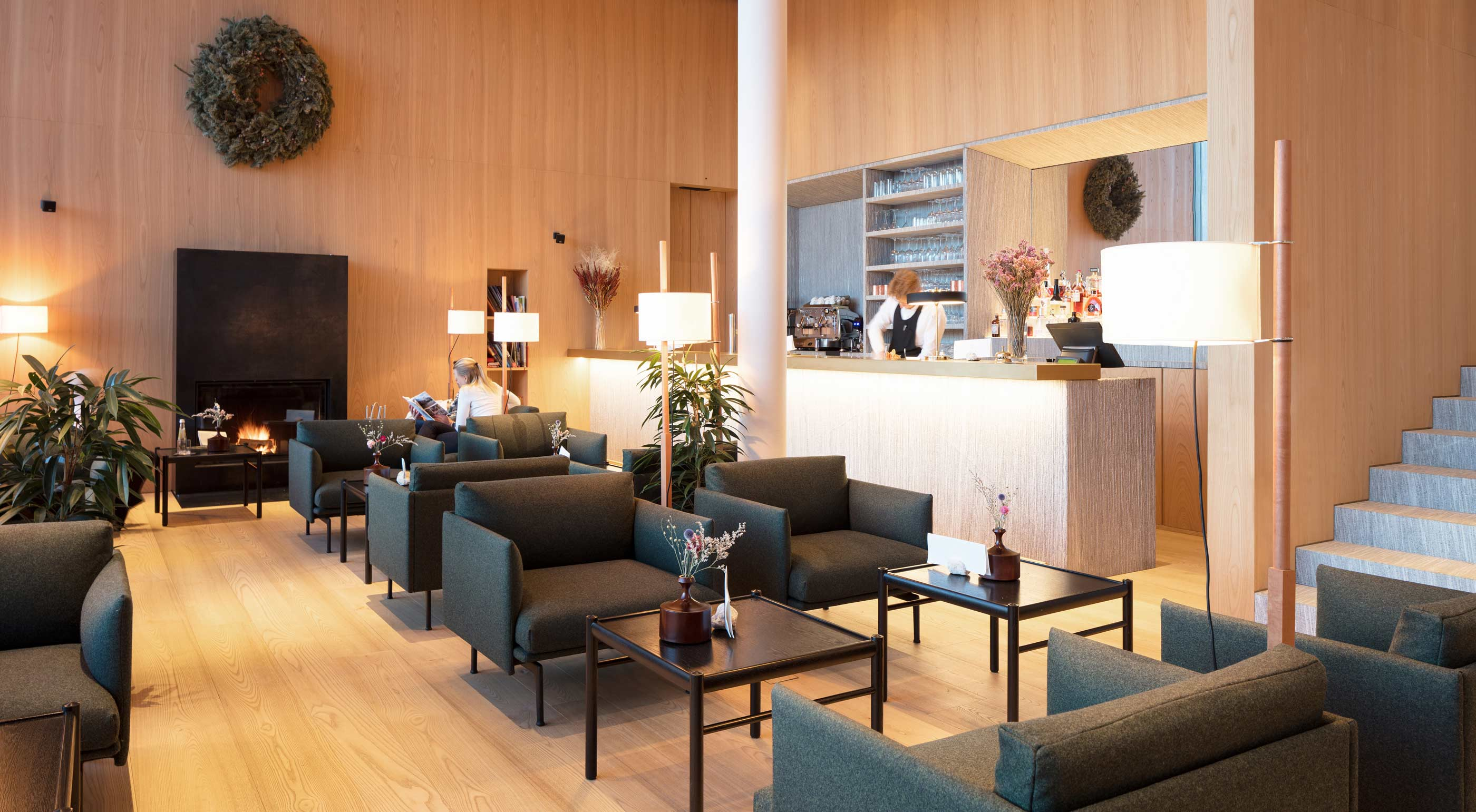 The Schgaguler Hotel Bar - the living room of the boutique hotel