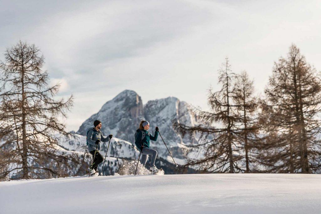 Schneeschuhwanderung in den Dolomiten - Schgaguler Boutique Hotel Kastelruth, Seiseralm, Gröden