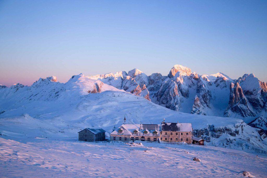 Ski mountaineering retreat in the Dolomites